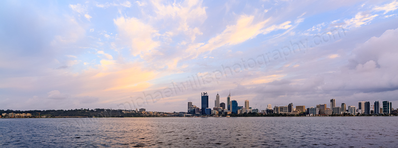 Perth and the Swan River at Sunrise, 29th September 2013