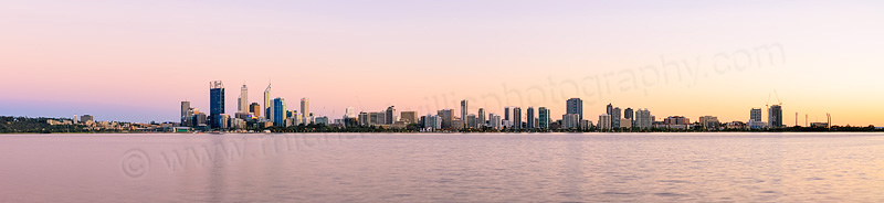 Perth and the Swan River at Sunrise, 3rd October 2013