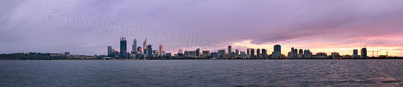 Perth and the Swan River at Sunrise, 5th October 2013