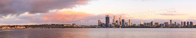 Perth and the Swan River at Sunrise, 7th October 2013