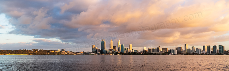 Perth and the Swan River at Sunrise, 8th October 2013