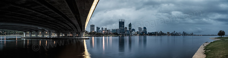 Perth and the Swan River at Sunrise, 9th October 2013