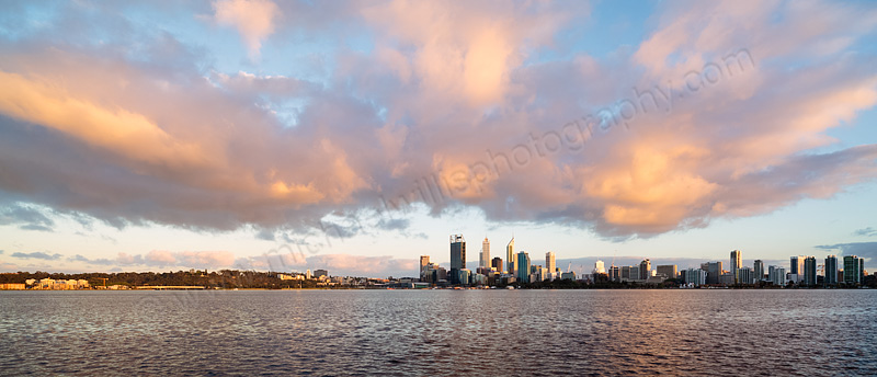 Perth and the Swan River at Sunrise, 10th October 2013