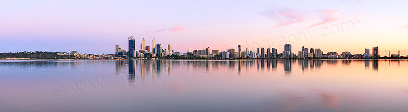 Perth and the Swan River at Sunrise, 14th October 2013