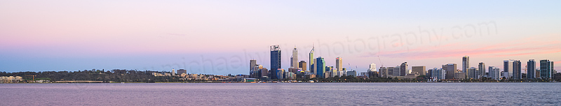 Perth and the Swan River at Sunrise, 13th October 2013