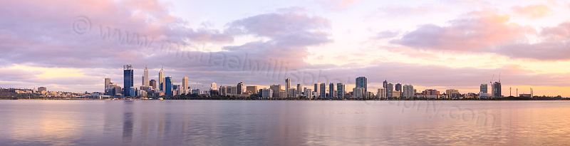Perth and the Swan River at Sunrise, 17th October 2013