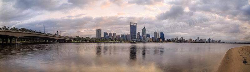 Perth and the Swan River at Sunrise, 19th October 2013