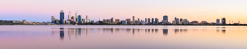 Perth and the Swan River at Sunrise, 21st October 2013