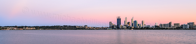 Perth and the Swan River at Sunrise, 22nd October 2013