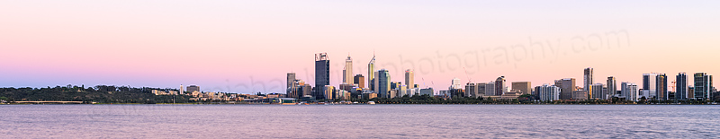 Perth and the Swan River at Sunrise, 23rd October 2013