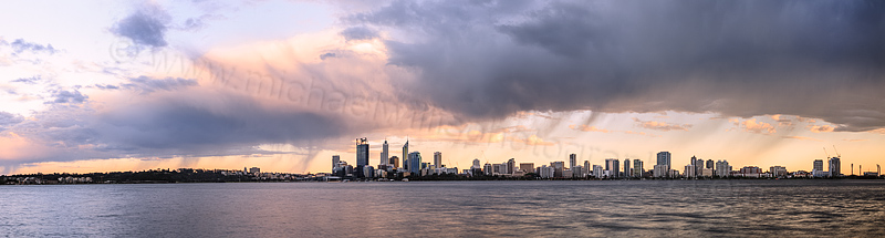 Perth and the Swan River at Sunrise 24th October 2013