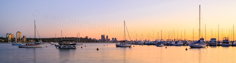 Sunrise at Matilda Bay, 27th October 2013