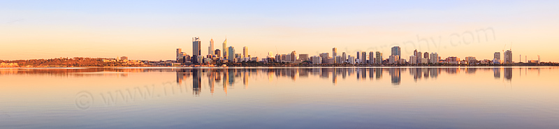 Perth and the Swan River at Sunrise, 29th October 2013