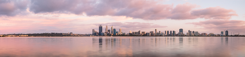 Perth and the Swan River at Sunrise, 31st October 2013
