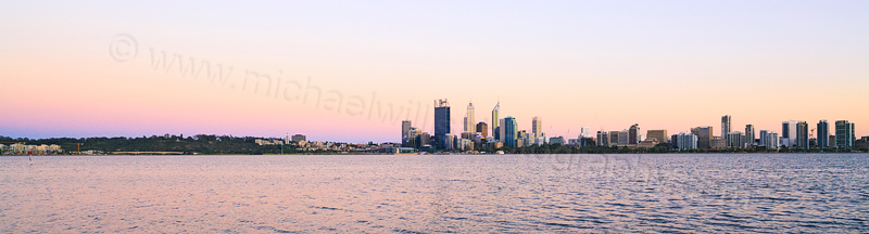 Perth and the Swan River at Sunrise, 9th November 2013