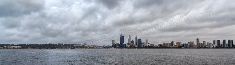 Perth and the Swan River at Sunrise, 17th November 2013