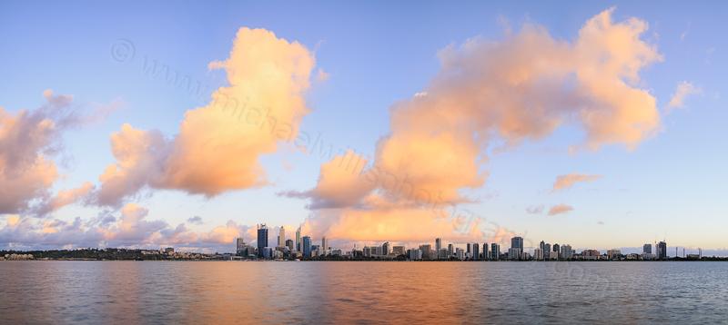 Perth and the Swan River at Sunrise, 24th November 2013
