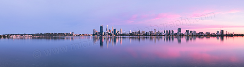 Perth and the Swan River at Sunrise, 24th December 2013