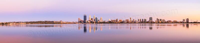 Perth and the Swan River at Sunrise, 26th December 2013