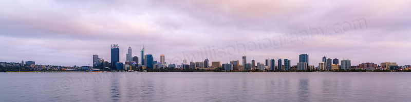 Perth and the Swan River at Sunrise, 31st December 2013