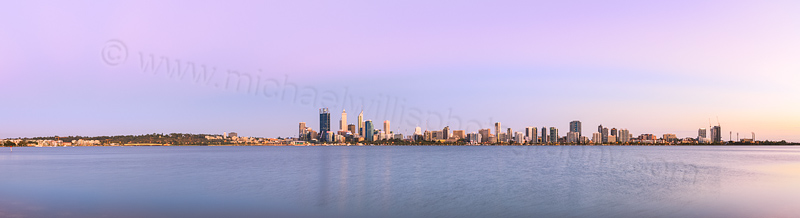 Perth and the Swan River at Sunrise, 2nd February 2014