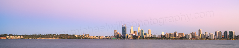 Perth and the Swan River at Sunrise, 3rd February 2014