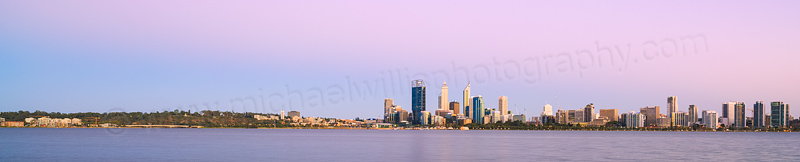 Perth and the Swan River at Sunrise, 4th February 2014