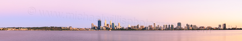 Perth and the Swan River at Sunrise, 7th February 2014