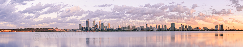 Perth and the Swan River at Sunrise, 10th February 2014