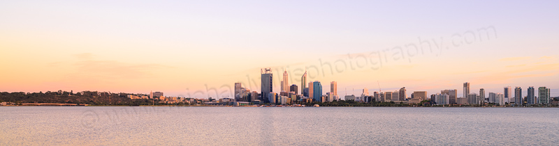 Perth and the Swan River at Sunrise, 11th February 2014