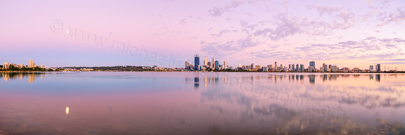 Perth and the Swan River at Sunrise, 16th February 2014