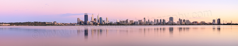 Perth and the Swan River at Sunrise, 17th February 2014