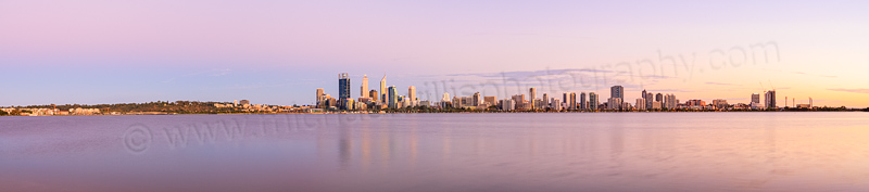 Perth and the Swan River at Sunrise, 18th February 2014