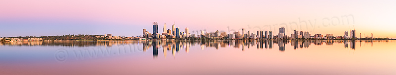 Perth and the Swan River at Sunrise, 24th February 2014