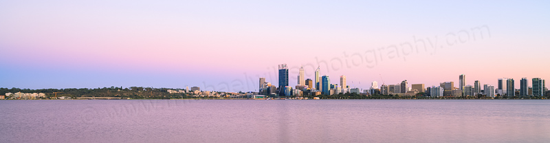 Perth and the Swan River at Sunrise, 25th February 2014