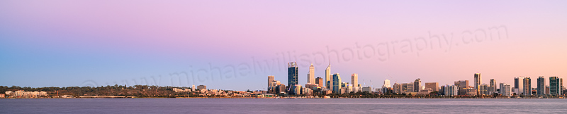 Perth and the Swan River at Sunrise, 28th February 2014