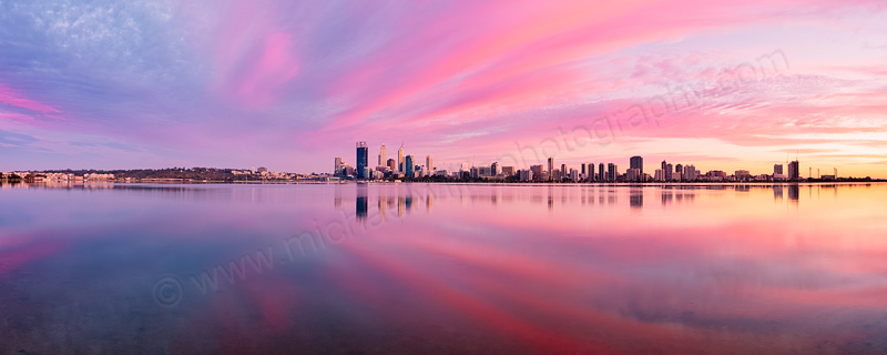 Perth and the Swan River at Sunrise, 3rd March 2014