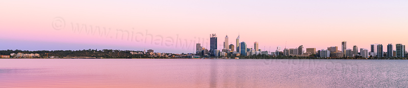 Perth and the Swan River at Sunrise, 4th March 2014