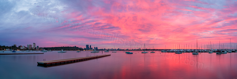 Matilda Bay Sunrise, 26th March 2014