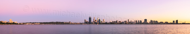 Perth and the Swan River at Sunrise, 2nd April 2014