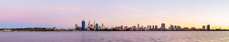Perth and the Swan River at Sunrise, 3rd April 2014