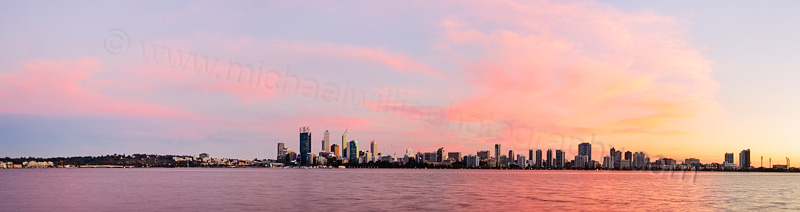 Perth and the Swan River at Sunrise, 4th April 2014