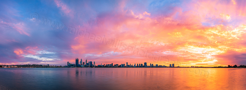 Perth and the Swan River at Sunrise, 10th April 2014