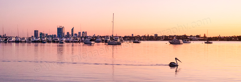 Applecross and the Swan River at Sunrise, 12th April 2014