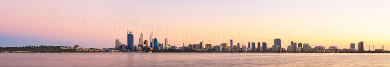 Perth and the Swan River at Sunrise, 14th April 2014