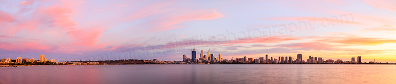 Perth and the Swan River at Sunrise, 18th April 2014