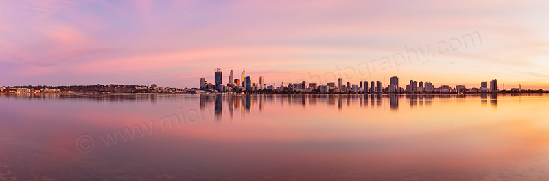 Perth and the Swan River at Sunrise, 23rd April 2014