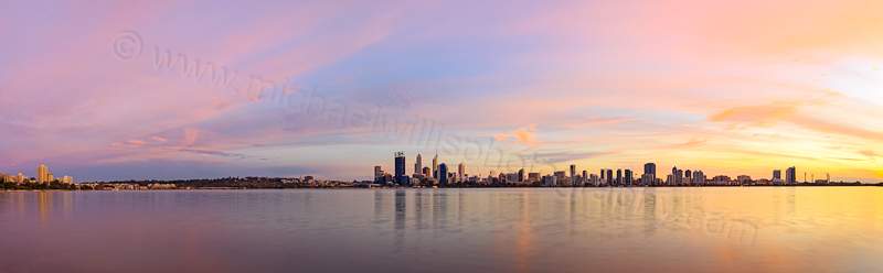 Perth and the Swan River at Sunrise, 24th April 2014