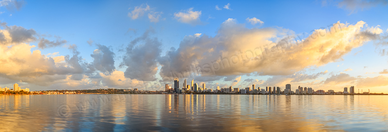 Perth and the Swan River at Sunrise, 28th April 2014