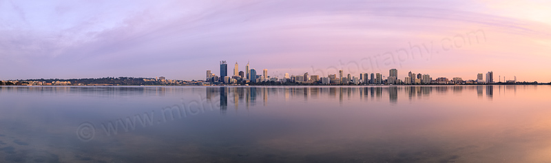 Perth and the Swan River at Sunrise, 2nd May 2014